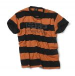 Striped Tee - flame/black